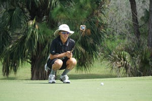 Edgewood junior Jon Wang fired a career-low 7-under 65 to win the Cape Coast Conference Championship at the Majors Golf Club on Thursday, Oct. 8, 2020.
