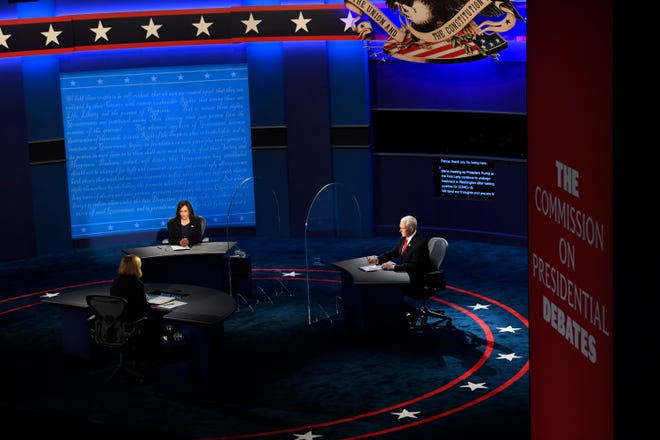 Vice Presidential debate between Republican nominee Vice President Mike Pence and Democratic nominee Sen. Kamala Harris held at Kingsbury Hall at The University of Utah. Susan Page, Washington Bureau Chief for USA TODAY, is the moderator.