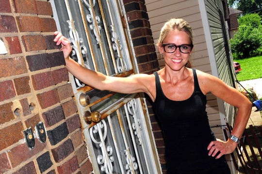 """Nicole Curtis, star of HGTV's """"Rehab Addict,"""" restored her first Detroit house in 2013."""