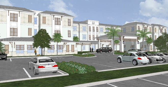 Preliminary rendering of proposed assisted living facility on Marco Island.
