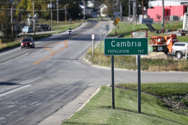 Cambria has a population of 767.