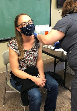 IU Health has donated 1,000 flu vaccines to Open Door Health Services in Muncie. Some shots were used at the Community Connection Day at Urban Light Community Church on Oct. 4.