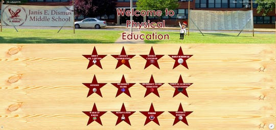 John LaRusso, a physical education teacher at Janis E. Dismus Middle School in Englewood, created a PE website with his colleagues to assist students with virtual learning.