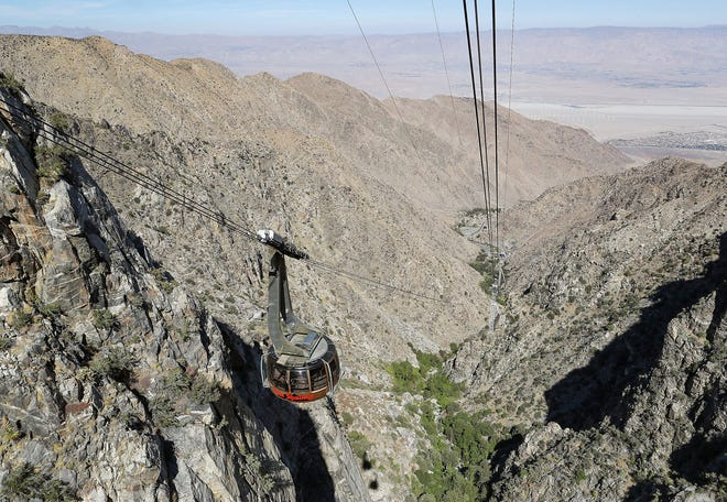 The Palm Springs Aerial Tramway in October 2020.