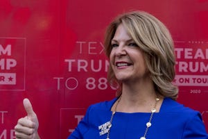 Kelli Ward, one of the filers of the lawsuit, at the Latinos for Trump office.