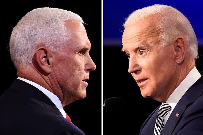 Vice President Mike Pence and former Vice President Joe Biden