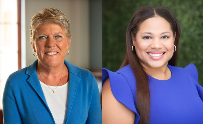 Julia Brownley (left) and Ronda Baldwin-Kennedy are running to represent the 26th Congressional District.