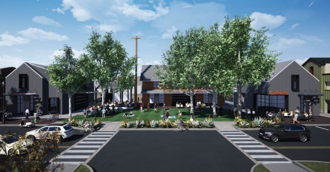 The High Street Depot project will include community green space and commercial businesses.