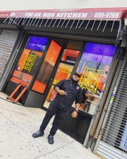 ChefSteven Carrington in front of his new takeout spot, The OX Box Kitchen in Mount Vernon.