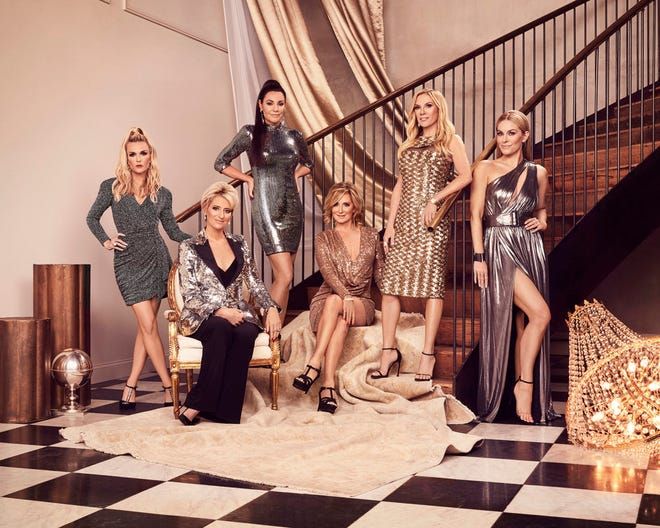 """Tinsley Mortimer, far left, and Dorinda Medley have departed Bravo's """"Real Housewives of New York City,"""" but the franchise's first Black cast member, Eboni K. Williams, will join Luann de Lesseps, third from left, Sonja Morgan, Ramona Singer and Leah McSweeney for the new season."""