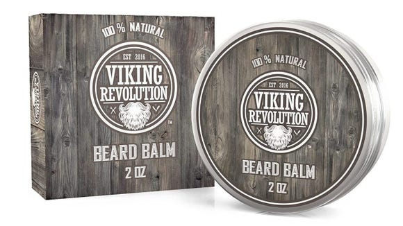 This beard balm will help soften and straighten unruly hair.