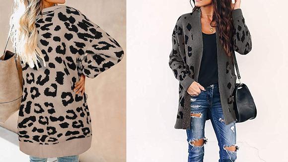 Zesica Print Cardigan Coat