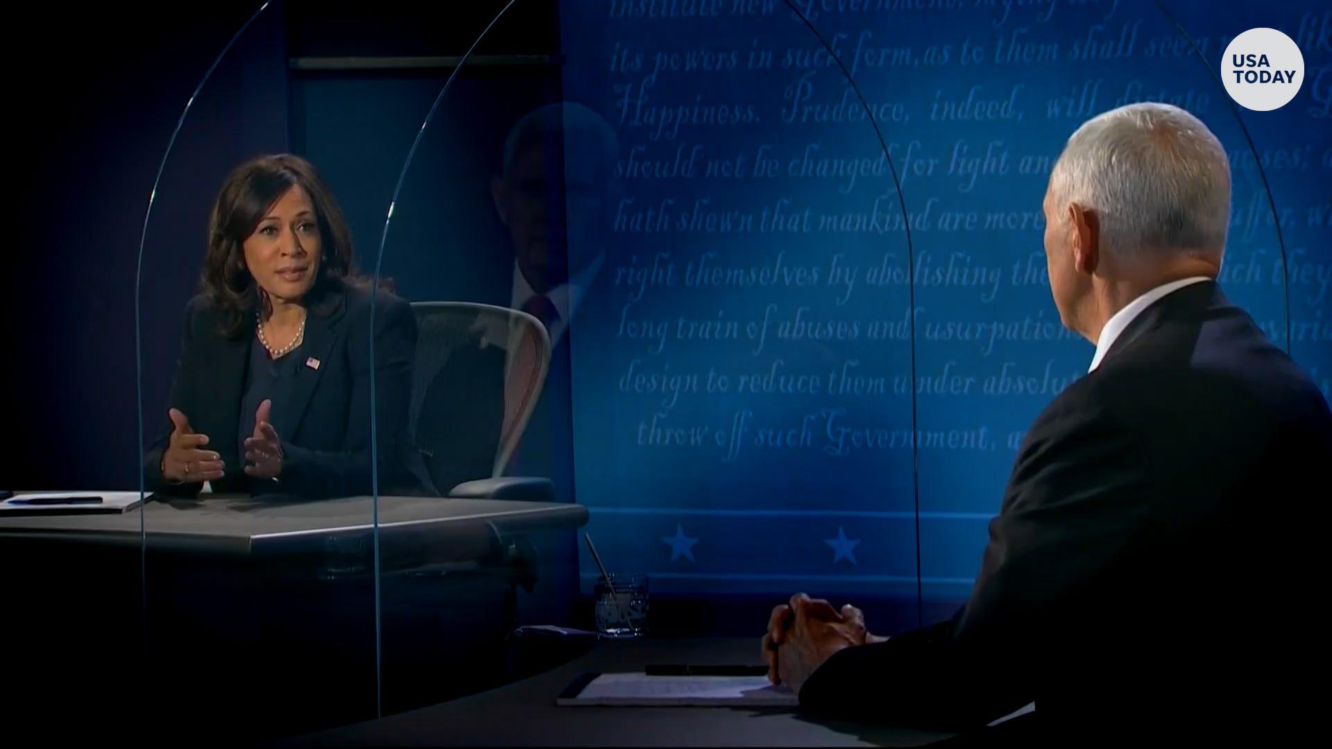 Vice Presidential Debate Full Transcript Of Mike Pence And Kamala Harris