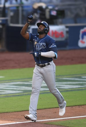 rays randy arozarena hr s again vs yankees tampa on brink of alcs rays randy arozarena hr s again vs