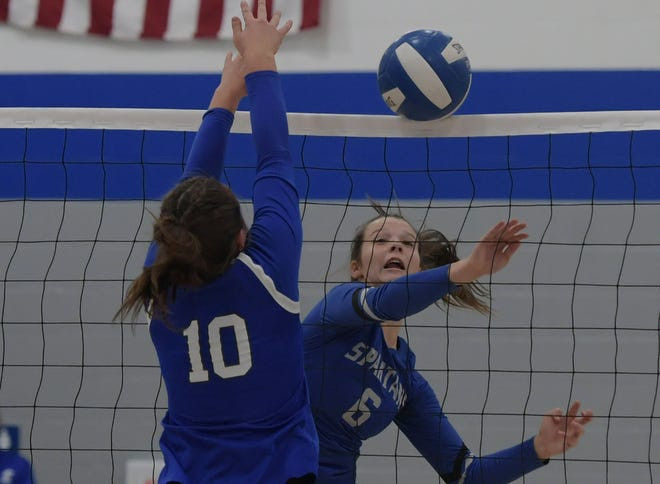 Elise Robertson already has 204 digs and 124 kills for the Collins-Maxwell volleyball team in just 43 sets this season. She is part of a terrific trio of all-around seniors for the Spartans along with Reagan Franzen and Brooke Christie.