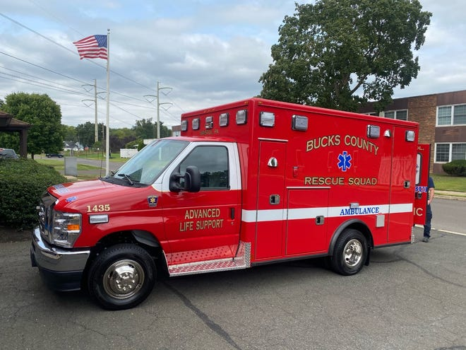 A new 2021 Ford advanced life support ambulance has been acquired by the Bucks County Rescue Squad headquartered in Bristol Borough.