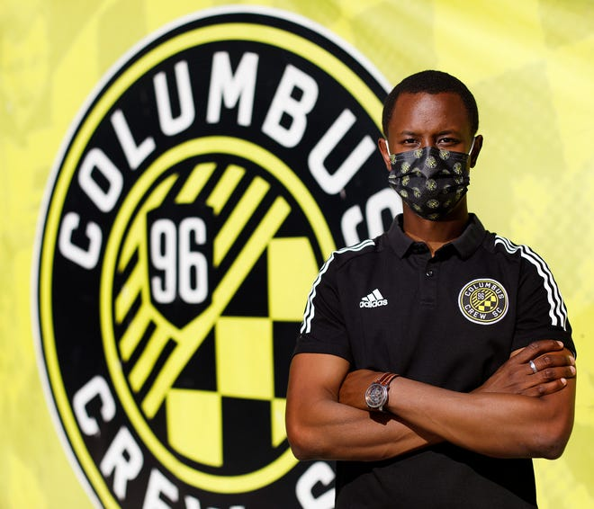 Crew player personnel director Issa Tall at Mapfre Stadium.
