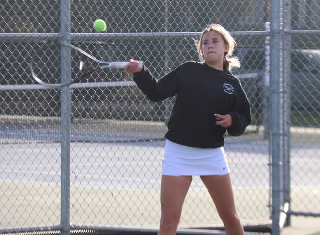 Hannah Lindemoen and the Crookston girls' tennis team was upset by Perham/New York Mills in the Section 8A tournament on Thursday, ending the Pirates' season.