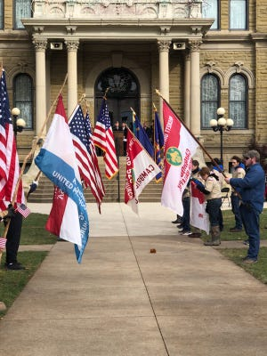 The 2020 Veterans Day Parade is scheduled to begin at 10 a.m. on Nov. 11 in downtown Cambridge. Cambridge Municipal Court Judge John Mark Nicholson will serve as a keynote speaker at the ceremony outside the Guernsey County Courthouse.