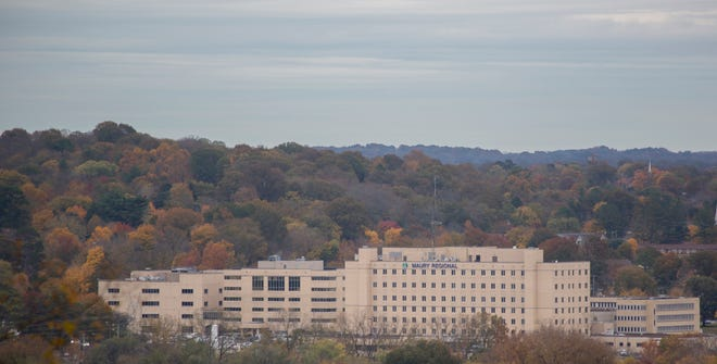 Autumn is in full sing in Maury County. The colorful fall foliage surrounding Maury Regional Medical Center in Columbia is seen from the Maury County Park on Wednesday, Nov. 7, 2018.