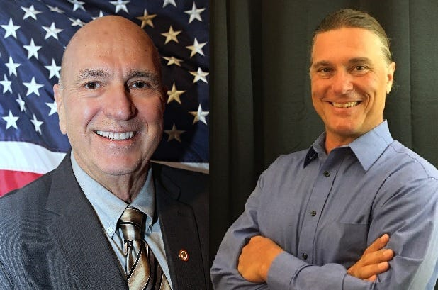 Gary Blair and Anthony Pupello are candidates for mayor of Orange City