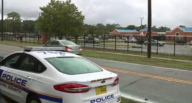 Duval County School Police are at Ribault High School after a gun went off on campus.
