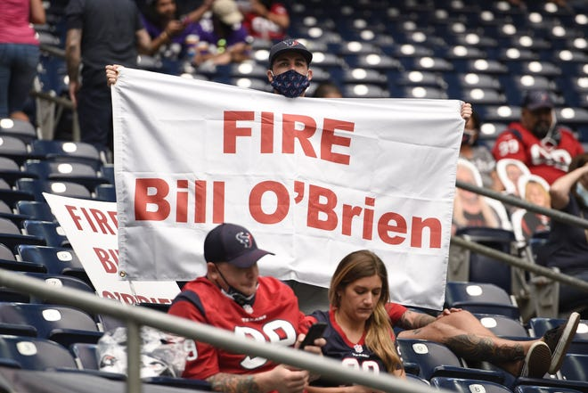 Some Houston Texans' fans got their wish Monday when head coach BIll O'Brien was fired after four games, but NFL history shows making such a move at any point during the season rarely produces any kind of turnaround.