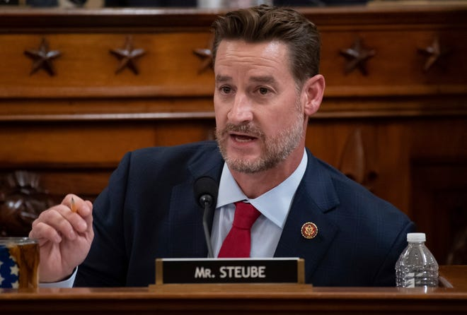 Rep. Greg Steube, R-Fla., questions constitutional scholars during a House Judiciary Committee hearing on Capitol Hill in Washington on Dec. 4, 2019.