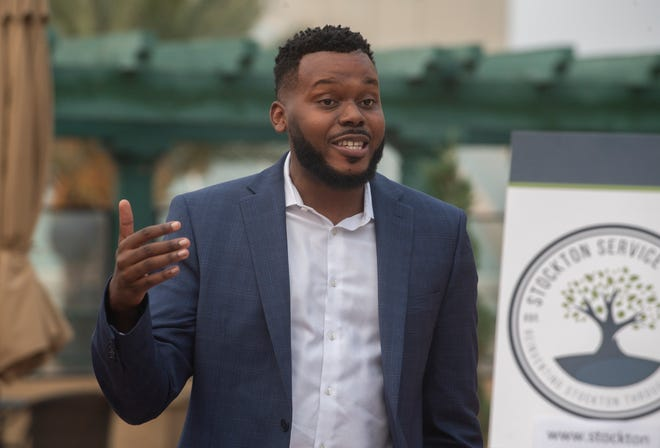 Outgoing Stockton Mayor Michael Tubbs, seen at the grand opening of the Reinvent Stockton Foundation's Social Distance Studies study hub earlier this year, said farewell to the City Council this week after losing his bid for reelection to local businessman and Pastor Kevin Lincoln.