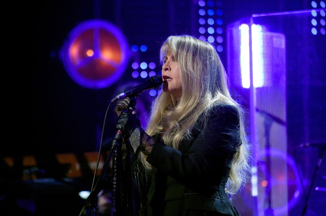 Stevie Nicks performs at the  2019 Rock & Roll Hall Of Fame Induction Ceremony at Barclays Center in New York City.