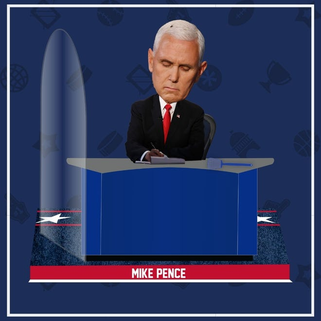 National Bobblehead Hall of Fame and Museum unveiled the Mike Pence Fly Bobblehead which includes a removable mini fly swatter.