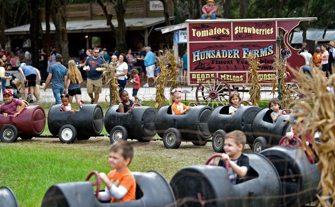 The 27th annual Hunsader Farms Pumpkin Festival in 2018. Now in its 29th year, the annual festival will continue despite concerns that the beloved Manatee County farm is facing foreclosure.