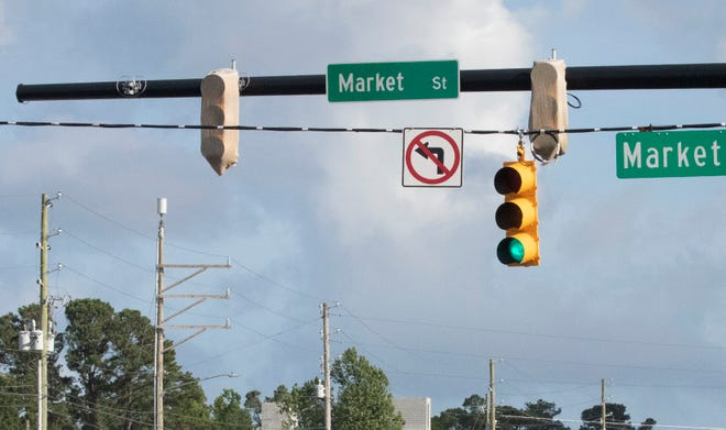 Market Street traffic will shift for two months starting Oct. 11 at an area near Porters Neck. Expect delays.