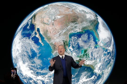 Former Vice President Al Gore speaks Jan. 22 during a session at the annual meeting of the World Economic Forum in Davos, Switzerland.