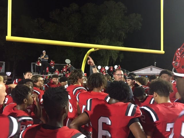Bradford celebrates upset win Thursday over Hawthorne