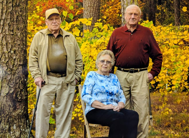 """Virginia Collier is pictured with her brothers, Herman """"Buddy"""" Black and Hubert Black. Collier has been missing since March 2019; both brothers have died during that time period."""