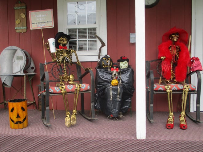 Time to start getting ready for Halloween! Deb Whitt submitted a photo introducing Frank, Frank Jr. and Blanche, who you will find on the front porch of her sister Gale, in New Philadelphia. Have you taken a photo you'd like to share with our readers? Send a .jpg image to hank.keathley@TimesReporter.com. Make sure you include information on who took the photo and where it was taken for caption information.