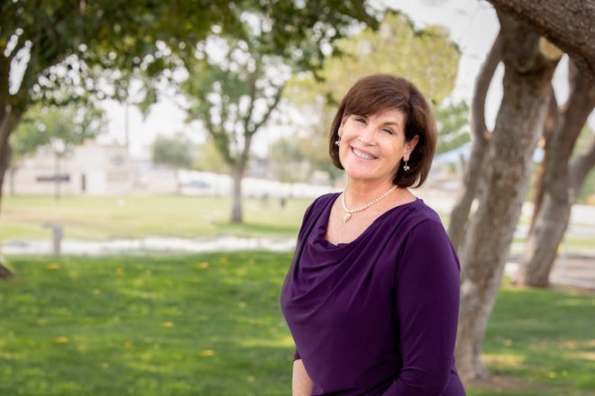 Barstow Mayor Julie Hackbarth-McIntyre is running for a third term.