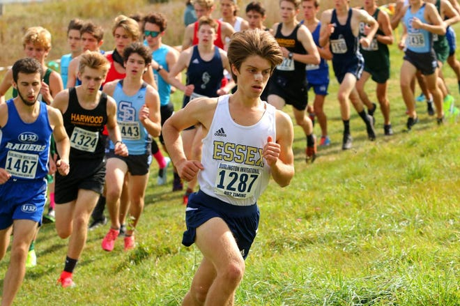 Essex senior Brady Martisus leads the pack during the SeaHornet Invitational last weekend.