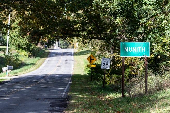 Main Street in Munith on Oct. 8, 2020.