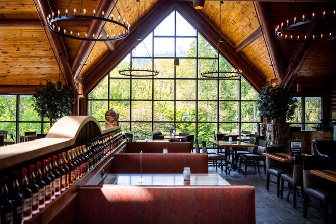 The dining area at Southern Comfort, a new restaurant opening at Westgate Smoky Mountain Resort & Spa in Gatlinburg, is seen Thursday.