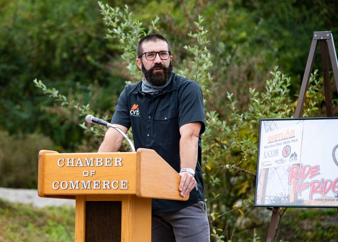 President of the Clinch Valley Trail Alliance Brad Spears speaks.