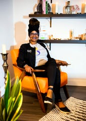 Afro Mermaid Skincare owner Sybil Bailey is photographed at her treatment room located at MBK Wellness Center in Knoxville's Bearden neighborhood on Wednesday, October 7, 2020.