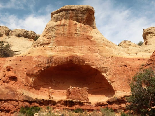 A 13th century sandstone cliff dwelling at the Canyons of the Ancients National Monument in southwestern Colorado