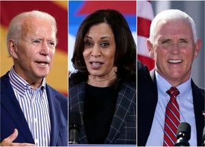 Former Vice President Joe Biden, Sen. Kamala Harris and Vice President Mike Pence all were in Phoenix on Thursday, Oct. 8, 2020.