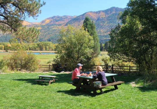 Durango has numerous outdoor dining options, including the 400-acre James Ranch north of downtown.