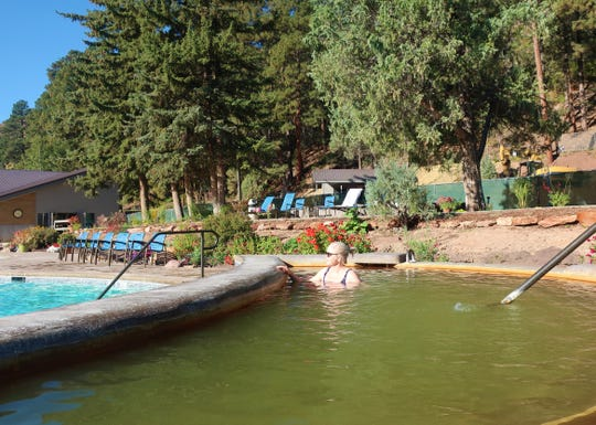 An oxygen-infused soaking pool at the Durango Hot Springs Resort & Spa, which is undergoing a $10 million renovation.