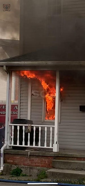 Hanover Borough Police said Lorrelei Bainbridge set this house blaze in the first block of Ridge Avenue, where she lived, on Oct. 7, 2020. She is facing arson charges.