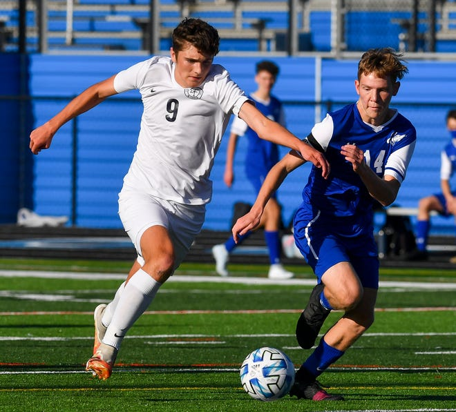 Dallastown's Kaden Kashner, seen here at left in a file photo, scored the game's only on Thursday in the Wildcats' 1-0 victory over Red Lion.