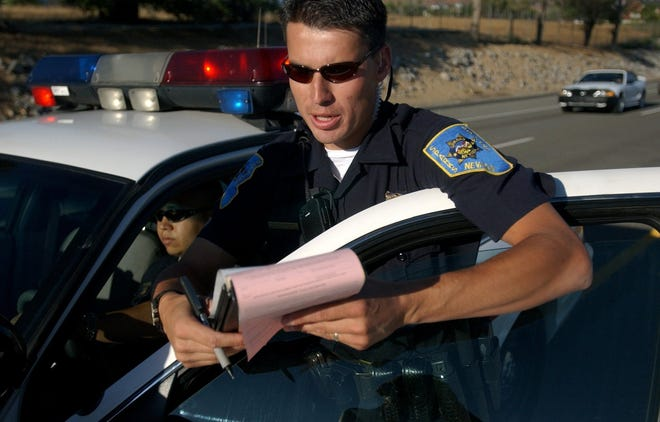 Sparks Police Officer George Forbush is shown in this 2003 archive photo from the Reno Gazette Journal.